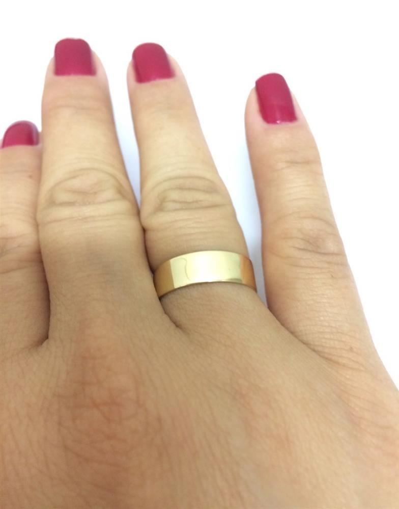 697353d54eb par de alianças ouro 18k casamento 6mm 6g reta polida. Carregando zoom.