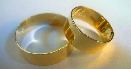 par de alianças ouro maciço 18k puro