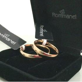 Par De Alianças Rommanel Anatômica 4 Mm Fol Ouro 18k 511026 Compromisso Casamento Noivado Com Garantia E Nota Fiscal