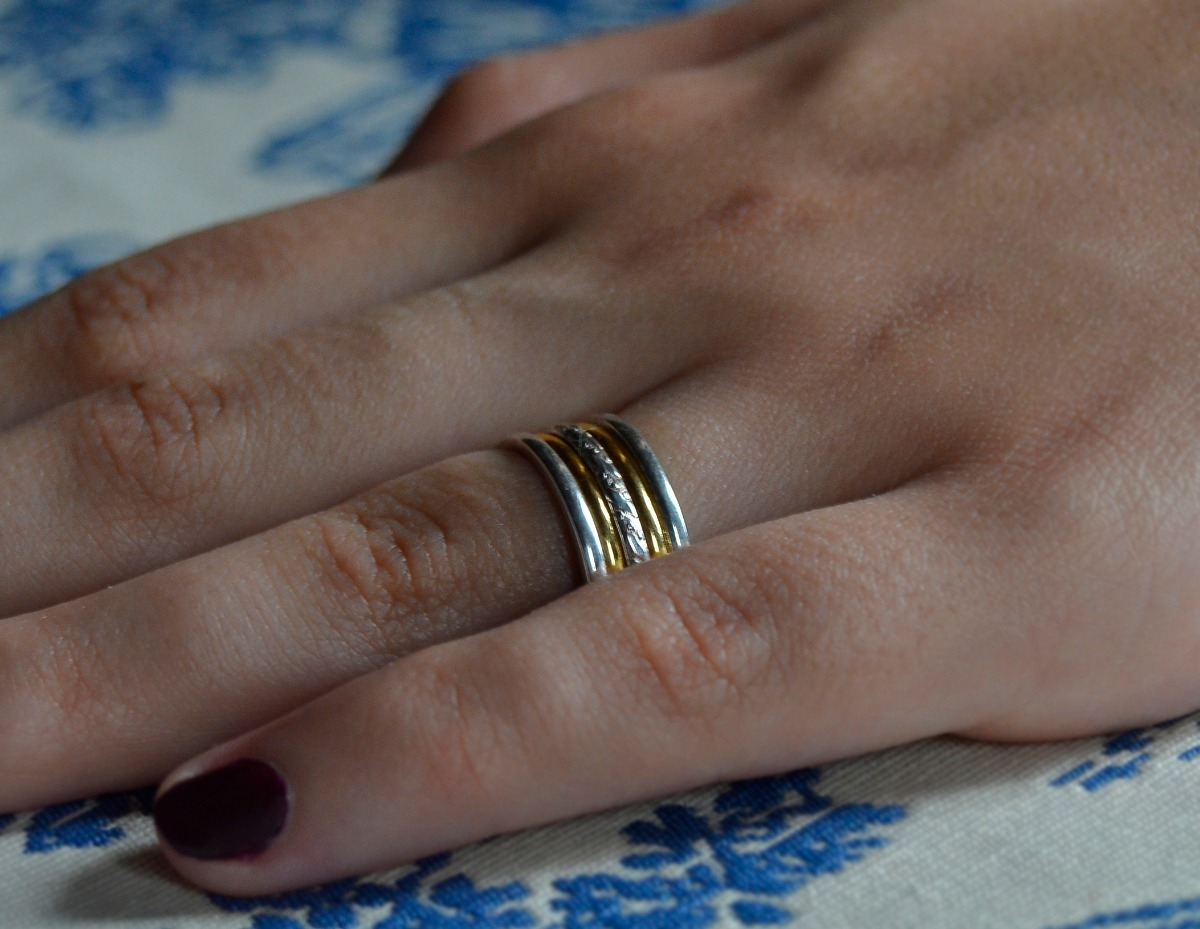 d6f2063970e4 par de alianzas plata 925 oro 18k matrimonio casamiento boda. Cargando zoom.