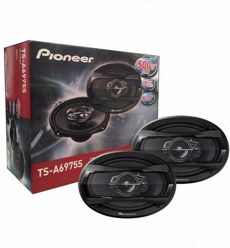 par de alto falante pioneer ts-a6975s 6x9 triaxial 500w
