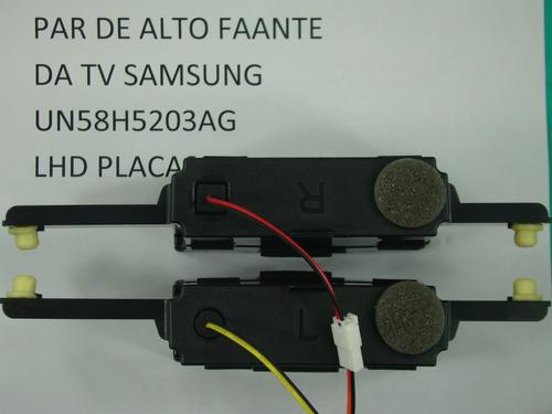 par de alto falante tv samsung un58h5203ag original