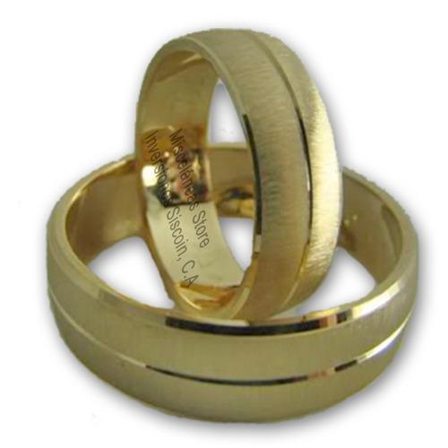 par de anillos aros de matrimonio bodas compromiso 18k