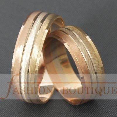 ce876773189c Par De Anillos Ó Argollas De Matrimonio En Oro De 14 Kt ...