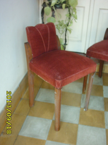 par de antiguas sillas art decó para sala o dormitorio