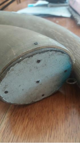 par de antiguos chifles de guampa barbacoa criolla