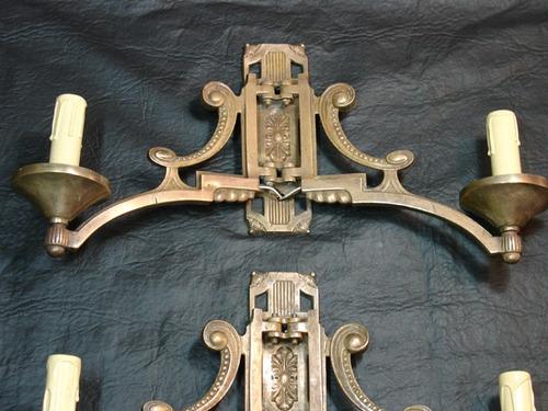 par de apliques antiguos franceses moviles de piano art deco