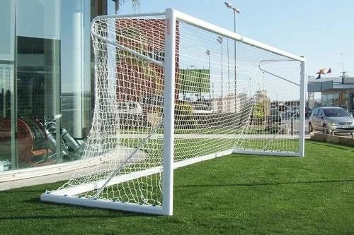 par de arcos de fútbol futsal de acero moviles 3x2