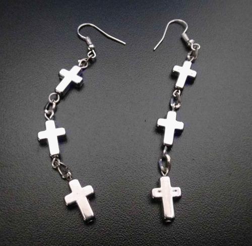 par de aretes de cruces excelente skpalace