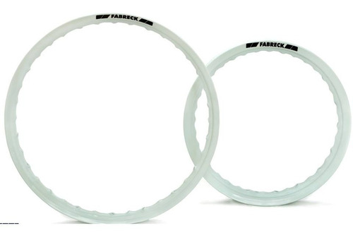 par de aros de moto em aluminio cor branca titan fan 125/150