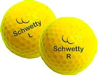 par de bolas de schwetty - amarillo