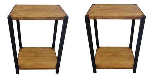 par de buros mesas de noche vintage minimalista residencial