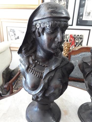 par de busto europeu 61cm