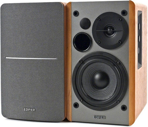 par de caixas monitores ativos edifier para produtores e djs