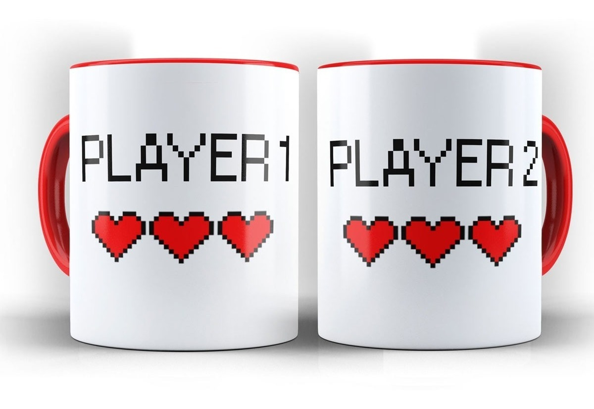 f72855e444daa8 Par De Canecas Player 1 Player 2 Dupla Namorados Presente