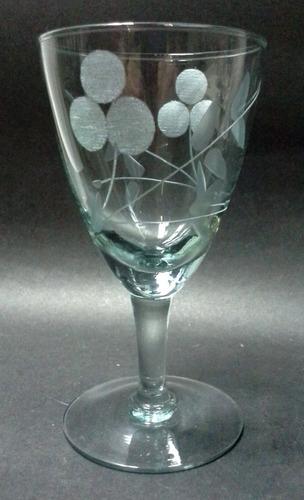 par de copas para licor cristal transparente tallado