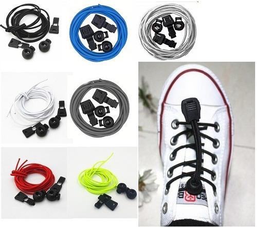 par de cordones zapatillas bloqueo running tipo lock laces