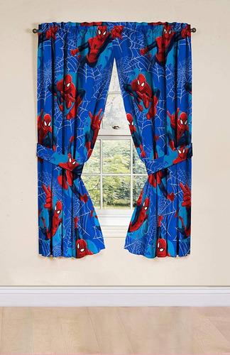 par de cortinas marvel spiderman envio gratis