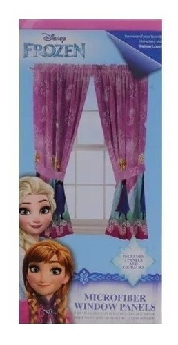 par de cortinas para habitacion disney frozen envio gratis