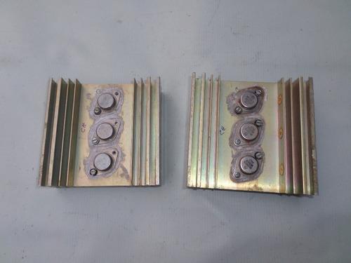 par de dissipador de calor de aluminio 12 x 12 x 4 cm