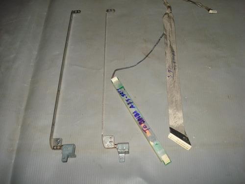 par de dobradiça inverte e cabo flat toshiba - a75-5211