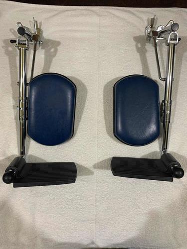 par de eleva piernas seminuevas para silla de ruedas.