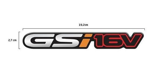 par de emblemas gsi 16v astra corsa adesivo cromado resinado