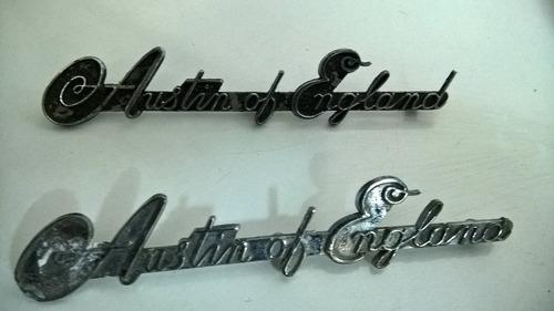 par de emblemas originais austin of england - pçc041
