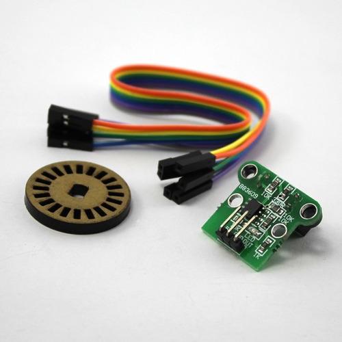 par de encoder rotativo para distancia y velocidad, arduino