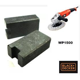 Par De Escovas Carvão Politriz Wp1500 Blackdecker 5140090-93