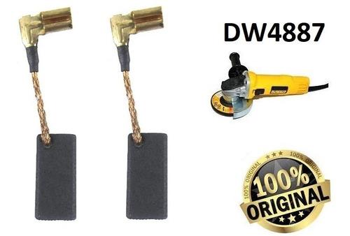 par de escovas de carvão lixadeira dewalt dw4887-n097698