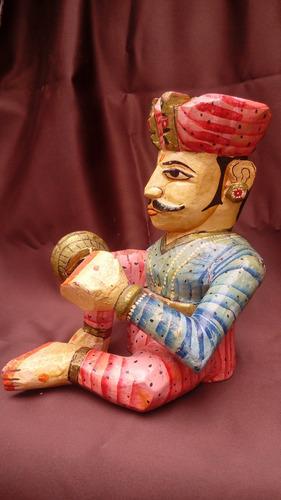 par de esculturas, artesanía antigua alta calidad