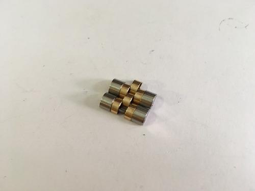 par de eslabones para rolex acero oro originales 15.5 mm