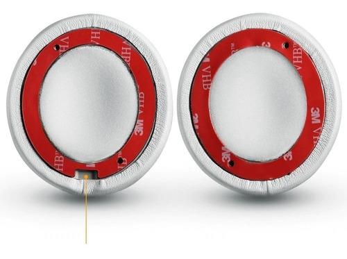 par de espumas beats solo2 e solo3 wi-fi sem fio-brancas-3 m