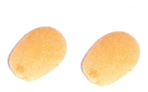 par de espumas para microfone headset cor da pele reposição