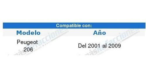 par de faros depo peugeot 206 2007 2008 2009