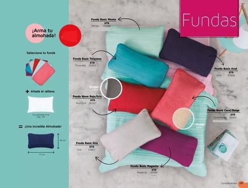 par de fundas de almohadas std basic varios colores vianney
