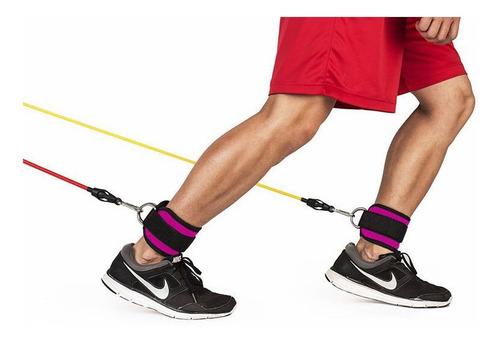 par de grilletes correas para tobillo gym crossover crossfit