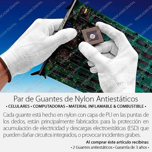 par de guantes de nylon antiestáticos electrónica, celulares