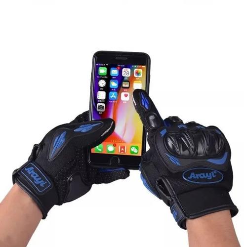 par de guantes para moto