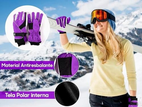 par de guantes para mujer ajustables termicos invierno moto