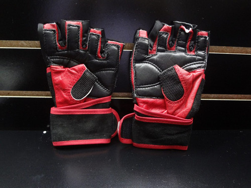 par de guantes pesista remate remate piel  palomares genuino