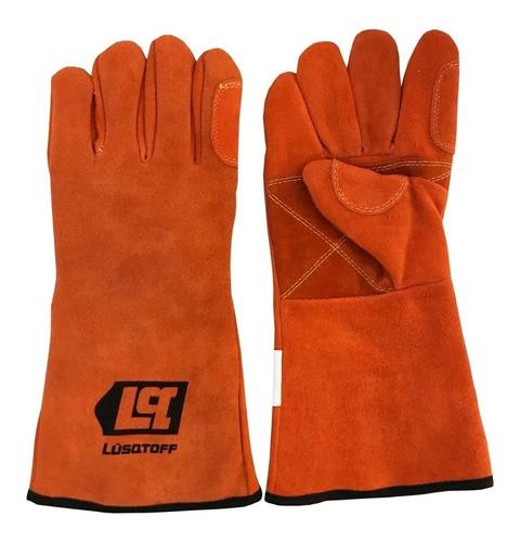 par de guantes soldador reforzado lusqtoff guante de soldar