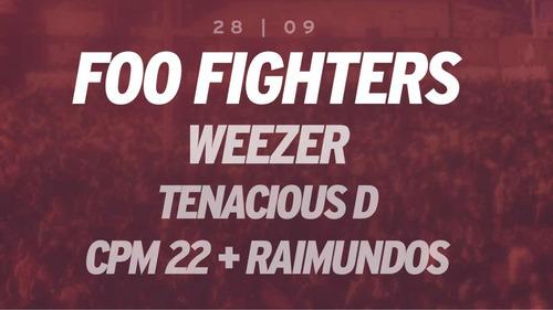 par de ingressos rock in rio 28/09 (sábado) foo fighters