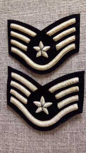 par de insignias staff sergeant. united states air force.