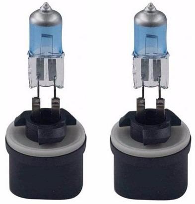 par de lampada h27 super branca 27w 12v plug reto