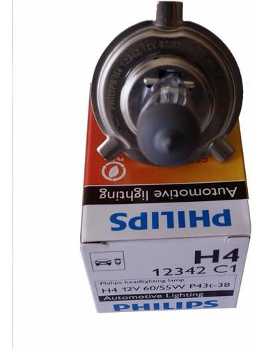 par de lampada philips standard h4 12v 55/60w + pingos w5w