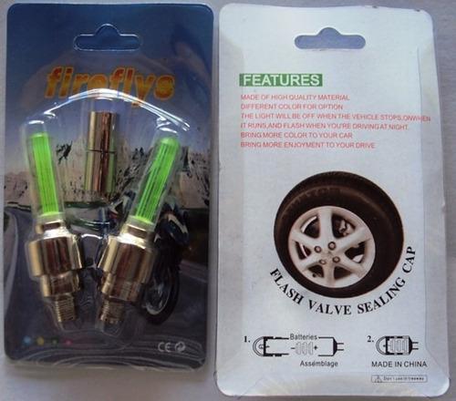 par de leds para bico do pneu com sensor d