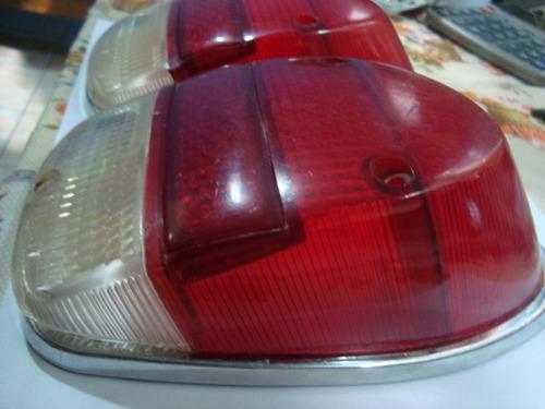 par de lentes bicolor das lanternas traseira do fusca