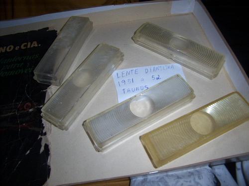 par de lentes dianteiras novas p/ ford taunus 51 a 52 raras